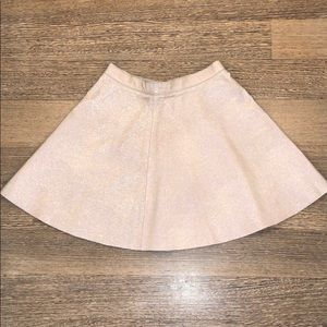 American Apparel Holographic Leather Skirt